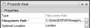 File System Path Properties - Location Specified